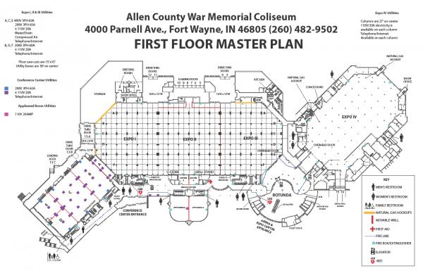 Allen County War Memorial Coliseum Floorplan